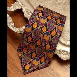 Brioni men's 100% silk ocean theme tie